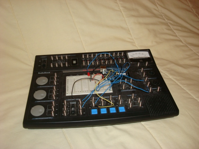 A picture of the breadboarded version.